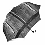 InterestPrint Wood Crosses on Old Church Door Foldable Portable Outdoor Travel Compact Umbrella (43 Inch)
