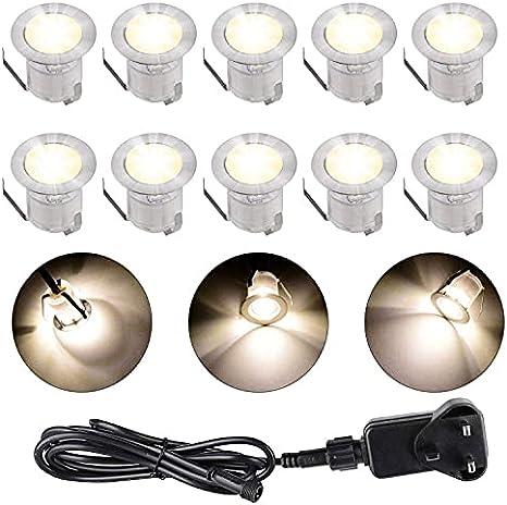 6er Set 12V 30mm RGB LED Einbaustrahler Leuchte Außenlampe Minispot wasserdicht