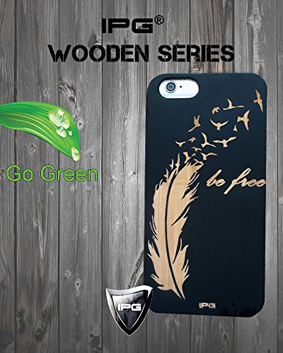 iPhone 6 / 6S BE FREE Black Natural Wooden Handmade Hard Case...