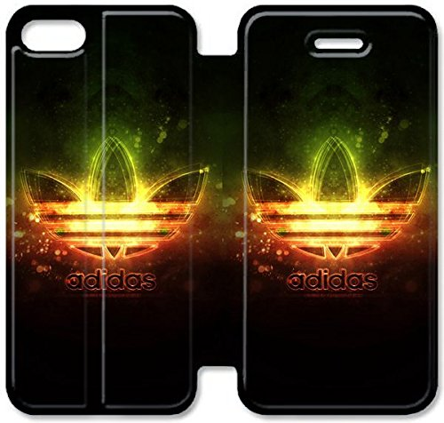 Flip étui en cuir PU Stand pour Coque iPhone 5 5S, 5 cas de téléphone cellulaire 5S Bricolage Meilleur Adidas logo Windows O7L4FG Coque iPhone étui en cuir design 3D