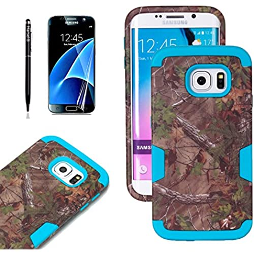 Galaxy S7 Edge Tree Camo Case, Harsel Dual Layer Hunting Tree Camouflage Soft Silicone Tough Hard PC Bumper Protective Sales