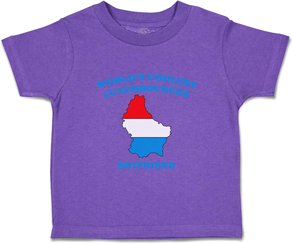 Custom Baby /& Toddler T-Shirt Worlds Coolest Luxembourger Boyfriend Cotton