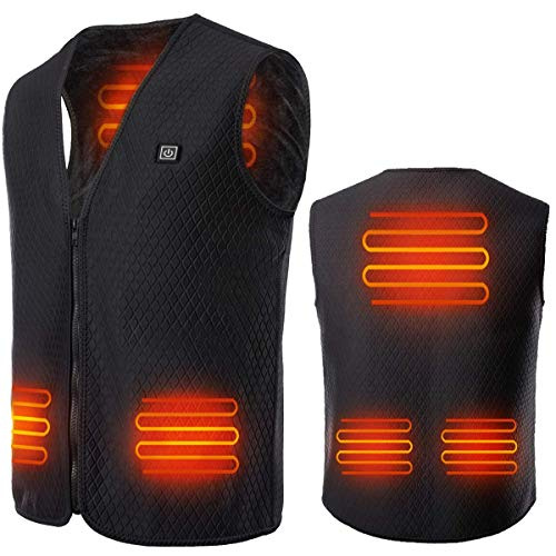 Heated Vest for Men Women, USB Charging Electric Body Warmer Jacket for Hunting
