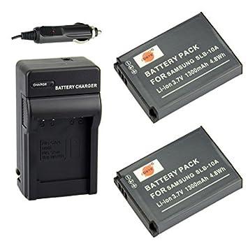 Amazon.com: DSTE® 2 x Batería SLB-10 A + DC23 Viaje y ...