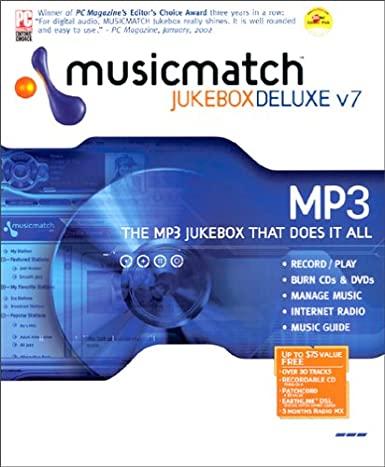 Musicmatch jukebox 10. 00. 4015 download for pc free.