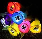 Krismile®4pcs Solar tulips light Solar flower light Solar lamp for garden decorations