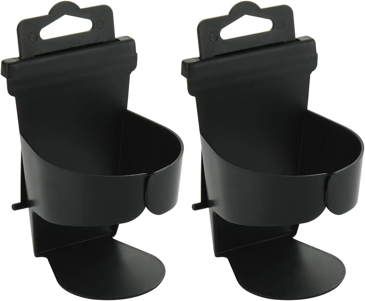 CM Pack of 2 Auto Cup Holder Vehicle Can Bottle Storage Hanger Hook Car Drink Holder for Universal Carseat Door Beverage Container