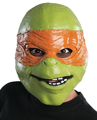 Rubies Teenage Mutant Ninja Turtles Movie Michelangelo Child 3/4 Mask (Ninja Turtles Movie Mask)