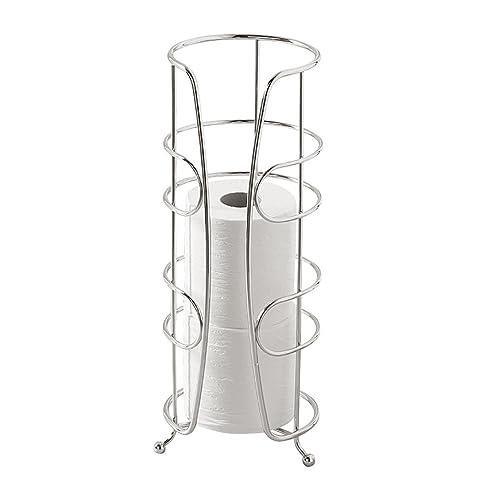 Elegant InterDesign Neo Toilettenpapierhalter | Eleganter WC Rollenhalter Für  Reserverollen | Freistehender Klorollenhalter Für 3 Ersatzrollen | Design