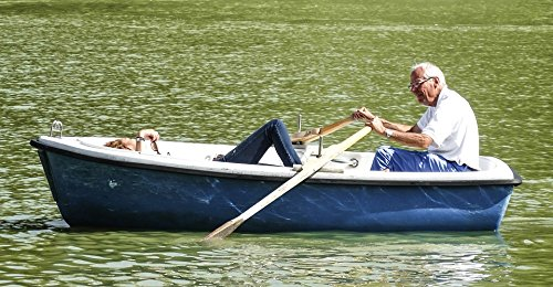 TED POSTER Pond Couple Wholesale Soledad Rowing Oars Barca Poster 24x36 Decal (Laminated Oar)
