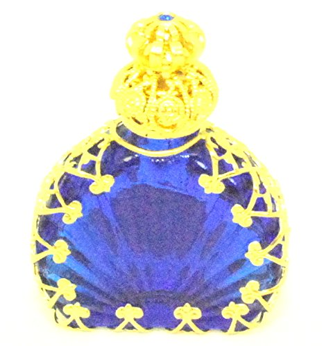 (Czech Victorian Style Decorative Glass Perfume/oil/holy Water Bottle Holder (blue))