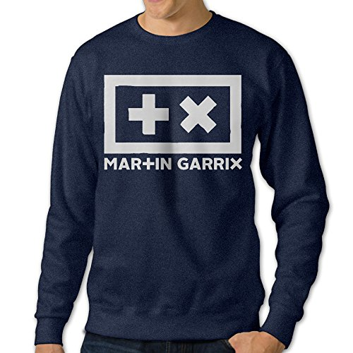 [JXMD Men's Martin Singer Garrix Crewneck Hoodies Navy Size XL] (Assassins Creed Unity Costume Customization)