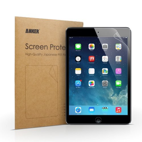 [2-Pack] Anker Clear Schutzfolie für iPad Mini 3, iPad mini mit Retina iPad mini 2, iPad mini Displayschutz Screen Protector - Klar - High Definition (HD) - Schmutzresistent