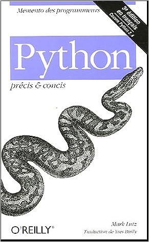 Python Pr Cis Concis Mark Lutz Books
