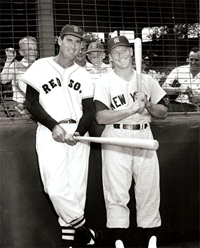 - New York Yankees Mickey Mantle and Boston Red Sox Ted Williams Together at Fenway Park in 1956 8x10 Photograph