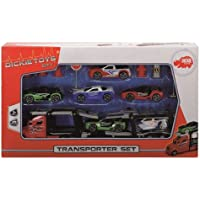 Dickie Toys Transporter Set, Freewheel Truck with 6 Cars