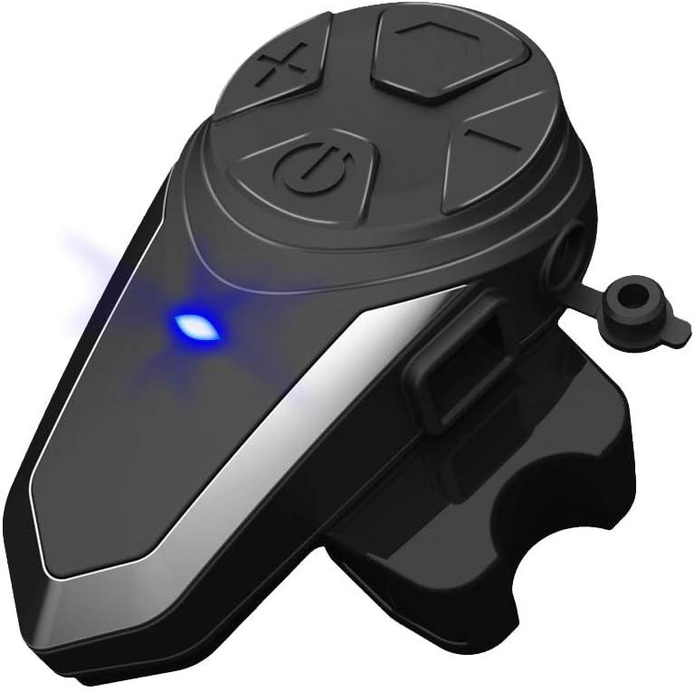 Auriculares Bluetooth para motocicleta, sistemas de comunicación de motocicleta BT-S3 1000m Compatible con radio FM, comando de voz por GPS, música, llamadas manos libres (paquete 1)