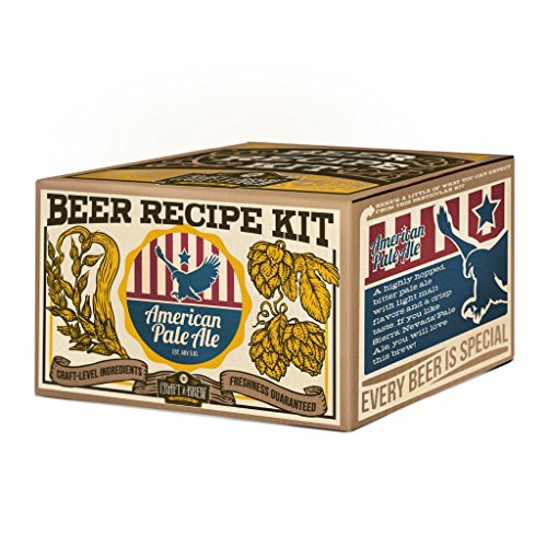 Craft a Brew Ingredient 1 Gallon American Pale Ale Recipe Kit – Make Your Own Beer with Home Brewing 1 Gal from Craft A Brew