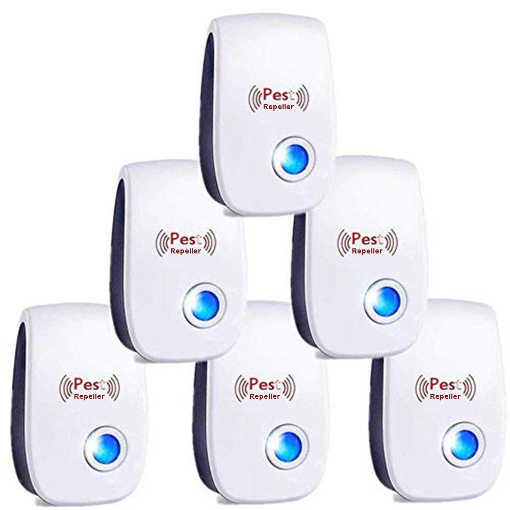 Bocianelli Ultrasonic Pest Repeller 6 Packs, Pest Control Ultrasonic Repellent, Electronic Pest Repeller Plug in - Pest Repellent for Mosquito, Mouse, Cockroaches,Rats,Bug, Spider, Ant by Bocianelli