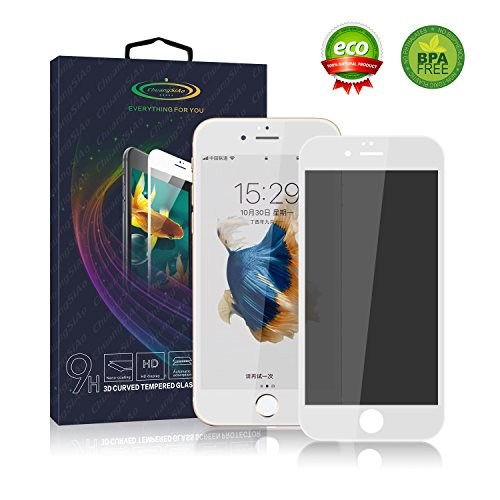 iPhone 6/6S Plus Privacy Screen Protector,Privacy Screen iPhone 6/6S Plus Screen Protector with Shield Anti-Fingerprint Bubble Free Anti-Scratch For iPhone 6/6S Plus (iPhone 6/6s Plus White)