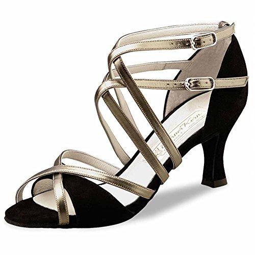 Werner Kern–Zapatos de baile para mujer EVA 6.5 Schwarz/Antik