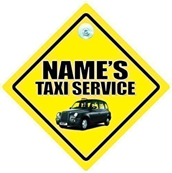 Taxi Service Car Sign Car Sign Taxi Sign Taxi Car Sign - Car signs
