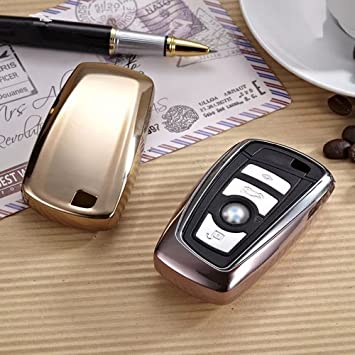 QinLing QL-BMS Silver Soft TPU Smart case Cover for BMW Key Chain fit1 3 5 7 Series X3 X4 Car Styling Holder Bag