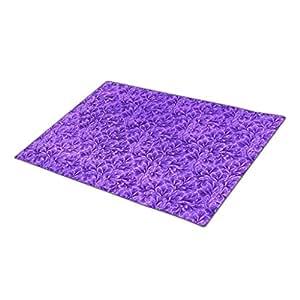 IanRosa Vintage Floral Lace Leaf Amethyst Purple Monogrammed Door Mat Purple Party Beach Doormat