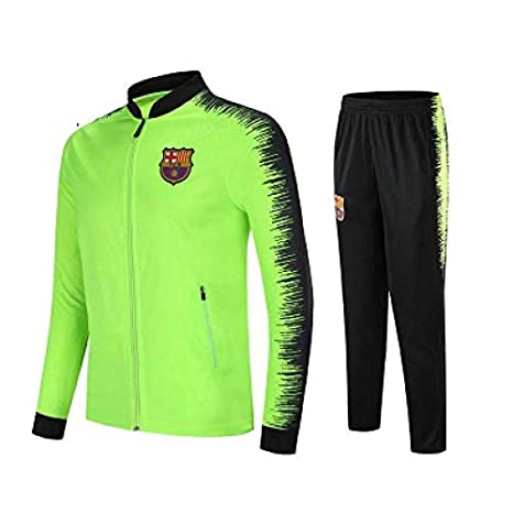 wxxsjfj Barcelona Club Manga Larga Jersey Traje de fútbol ...