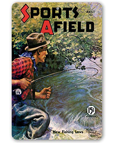Sports Afield Stream Fishing Cover Metal Sign - 8