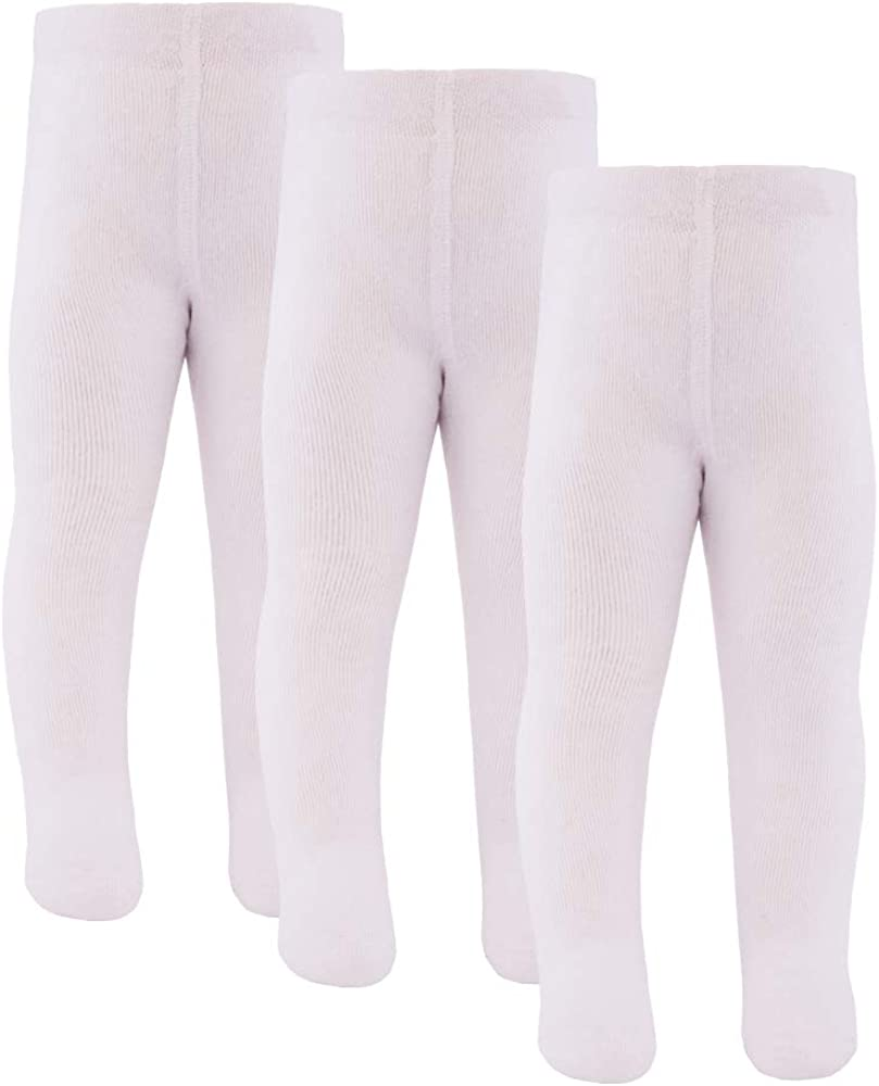 MADE IN EUROPE Strumpfhose 98/% Baumwolle Uni Basic Kinderstrumpfhose inibini 3er Pack Babystrumpfhose f/ür M/ädchen und Jungen