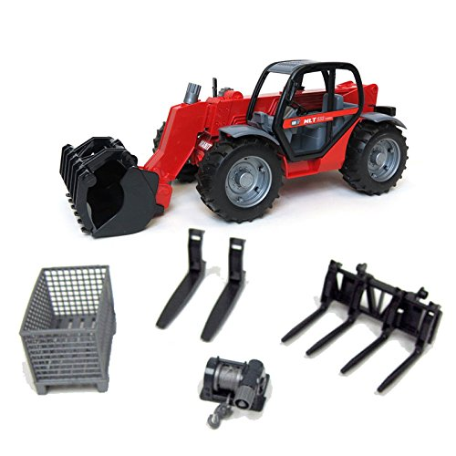 Kit 1/16th Manitou Tele-Handler MLT 633 with Pallet Forks and Accessories ()
