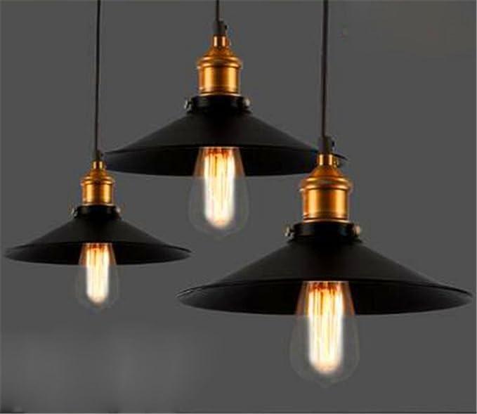Loft di lampadari in stile industriale Nordic IKEA vintage creativo  villaggio americano ristorante bar Lampadario vestito intestazione neri  Amazon.it