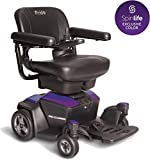 New GO Chair Pride Mobility Travel Electric Powerchair + 18AH Batteries Upgrade (Purple)