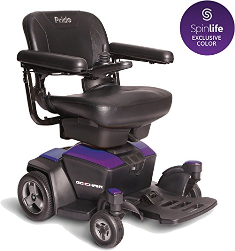 New GO Chair Pride Mobility Travel Electric Powerchair + 18AH Batteries Upgrade (Purple) ()