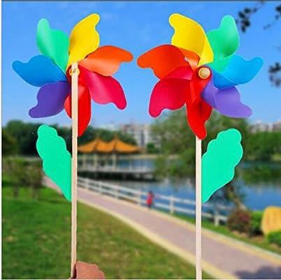 Molino de viento de jardín colores para flor de cama planta adorno de maceta decoración: Amazon.es: Jardín