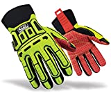 Ringers Gloves R-270 Roughneck HIP, Heavy Duty Impact Glove, Heavy Impact Protection TPR, CE Level 2 Cut Protection, XX-Large