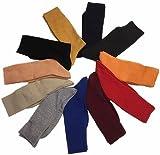 Men's Knit Crew Socks Random Solid 5-Pair