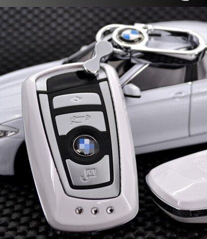 ARANA smart remote Key fob cover key bag holder protector skin jacket&bling keychain For BMW750Li 740Li 128i 650i 750i X3 Z4 Alpina B7 ActiveHybrid 5 7 Alpina B7L M3 M6 X6 328i X5 528i 535i 550i 135is (white)