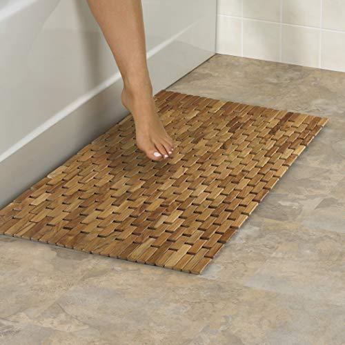 Conair Home Teak Spa Mat, Roll-Up or Lay Flat
