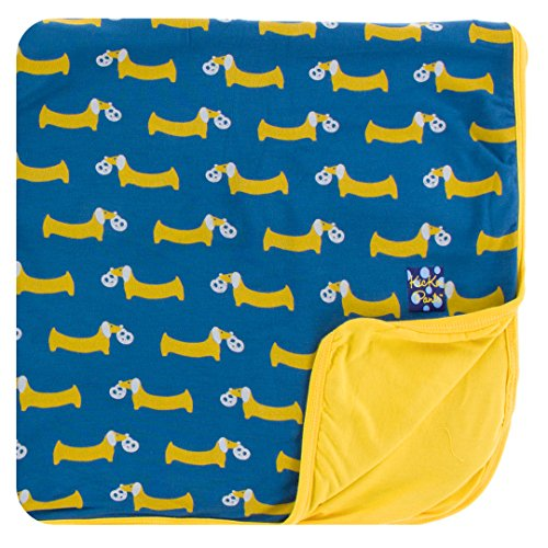 KicKee Pants Little Boys Print Toddler Blanket - Twilight Pretzel Pup, One Size