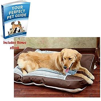 Suave y acogedor edredón de perro cama – elegante y práctico con un área impresa en