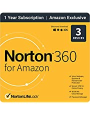 EXCLUSIVE Norton 360 for Amazon – Antivirus software for up to 3 Devices with Auto Renewal