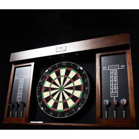amazon com barrington 40 dartboard cabinet with led light