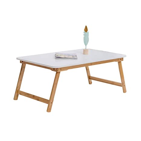 Amazon.com: HY Mesa plegable de bambú Lazy mesa compuesta ...