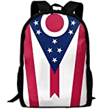 Backpack Ohio State Flag Womens Laptop Backpacks School Bag Travel Daypack