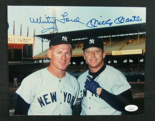 Mickey Mantle Whitey Ford Signed Auto Autograph 8x10 Photo BB04389 - JSA Certified - Autographed MLB Photos ()