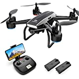 DEERC D50 Drone for Adults with 2K UHD Camera FPV 120° FOV 1080P Live Video, Tap Fly, Altitude Hold, Headless Mode, Gesture Control, 4 Speed Mode, Gravity Sensor, RC Quadcopter with 2 Batteries
