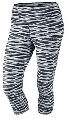 Nike Legendary Dri-fit Capri Leggings Grey/ Black/ White Large
