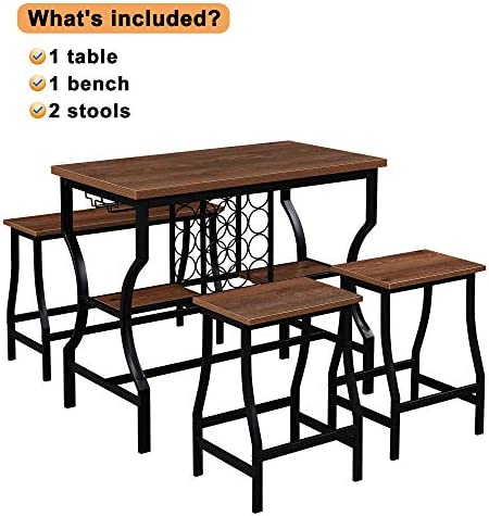 Hombazaar 4-Piece Dining Room Table Set